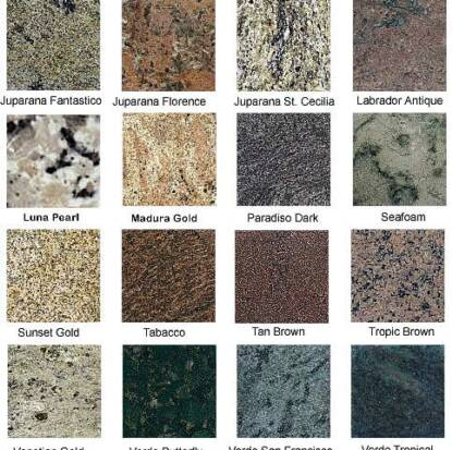 Granite Countertop Samples : Granite Samples Mathieu Memorials